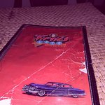 50s stlyle bar has 2 menus , looks like this one is from the 50s as well