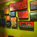 student art work adorns the walls