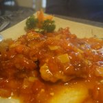 fried eggs in sweet sauce