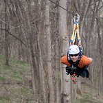 Our Extreme zip line package features our largest zip lines including our 1/3 mile 'Raptor' line