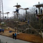 For a little variety, try our aerial obstacle course with options for both children and adults.