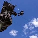 One leap of faith then gravity takes over in a 40 foot controlled descent.