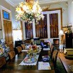 Dining room- high ceilings!