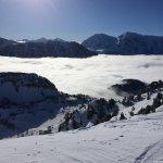 en haut du domaine skiable de Chamrousse