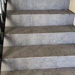 Escadaria suja