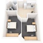 2 Bedroom Suite Layout