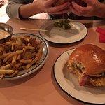 Bitcoin burger and fries.
