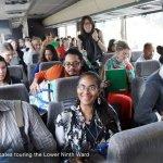 Group bus tour for health advocates