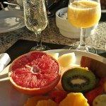 Breakfast in January sunshine