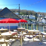 Our outdoor seating area by the harbour.