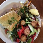 Vegetarian galette and side salad at You Say Tomato.