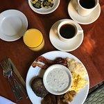 Plentiful breakfast