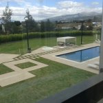 Beautiful outside area around pool with views
