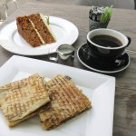 Toastie & Carrot Cake at Lime Tree Cafe - Dubai (24/Jan/18).