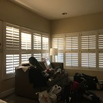 Excuse the mess but I loved the view of these shutters from my bed in the AM