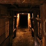 In a mine tunnel under the museum