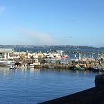 Lucky with weather in early feb but great views from the hotel and around the harbour