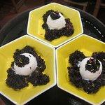 Ice Cream with Black Sticky Rice