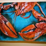 One of the lovely paintings in the Lobster Pot