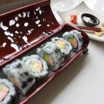 Sushi roll from our sushi chef at Taksu Galeria