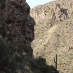 Sabino Canyon rock face