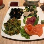 Bento sashimi platter with tuna and salmon