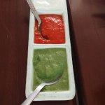 Mint, Pepper  and Raita sauces