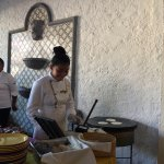 Chef preparing Oaxacan delicacies on the comal