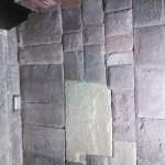 Inka stone wall near the bar