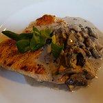 Grilled Turkey Breast with Mushroom Sauce