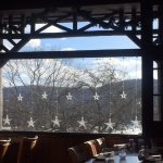 View from the restaurant at Bear Mountain Inn-Winter 2018