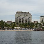 View of the hotel from the Ocean