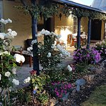Our porch where guests can relax and take in the afternoon sun whist enjoying afternoon tea