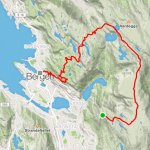 The route according to GPS