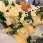 New Marguez Benedict offered at SD.  They should consider making the lamb sausage in this dish a
