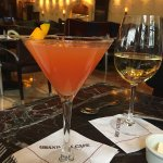 Lunch menus, views from my table, my blood orange martini and my children wraps