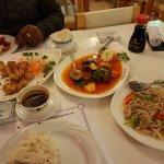 Chicken, beef & pork