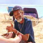 Matthew - Beach Aloe Vera foot massage - it's good !