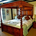 We loved the four poster bed room.....