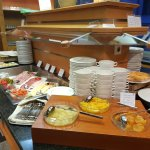 Breakfast cold buffet choices - cold meats, cheese, salad, fruit, juices, etc