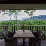 Coral Sea Bungalow with ocean, mountain & forest views