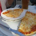 """9"""" Quattro Formaggio Pizza (4 cheese pizza)"""