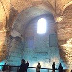 Roman bath ruins inside the Musee de Cluny