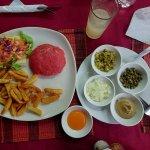 Beef Bourguignone and Beef Tartar