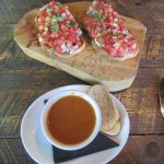 Soup and Bruschetta