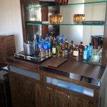 The minibar.