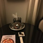Classy turn down service included ice in the bucket and chocolates at nice.