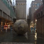 The Marriott is on the left of the globe. The globe's a great landmark to help those unfamiliar