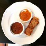 chicken pâté, spiced orange marmalade, cognac, ginger bread