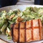 Asian Caesar Salad with Salmon